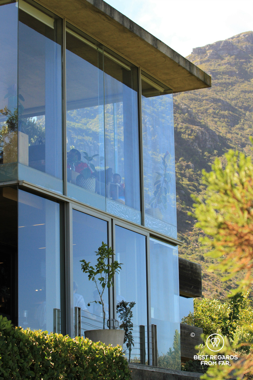 Modern Beau Constantia tasting room, Constantia wine route, Cape Town