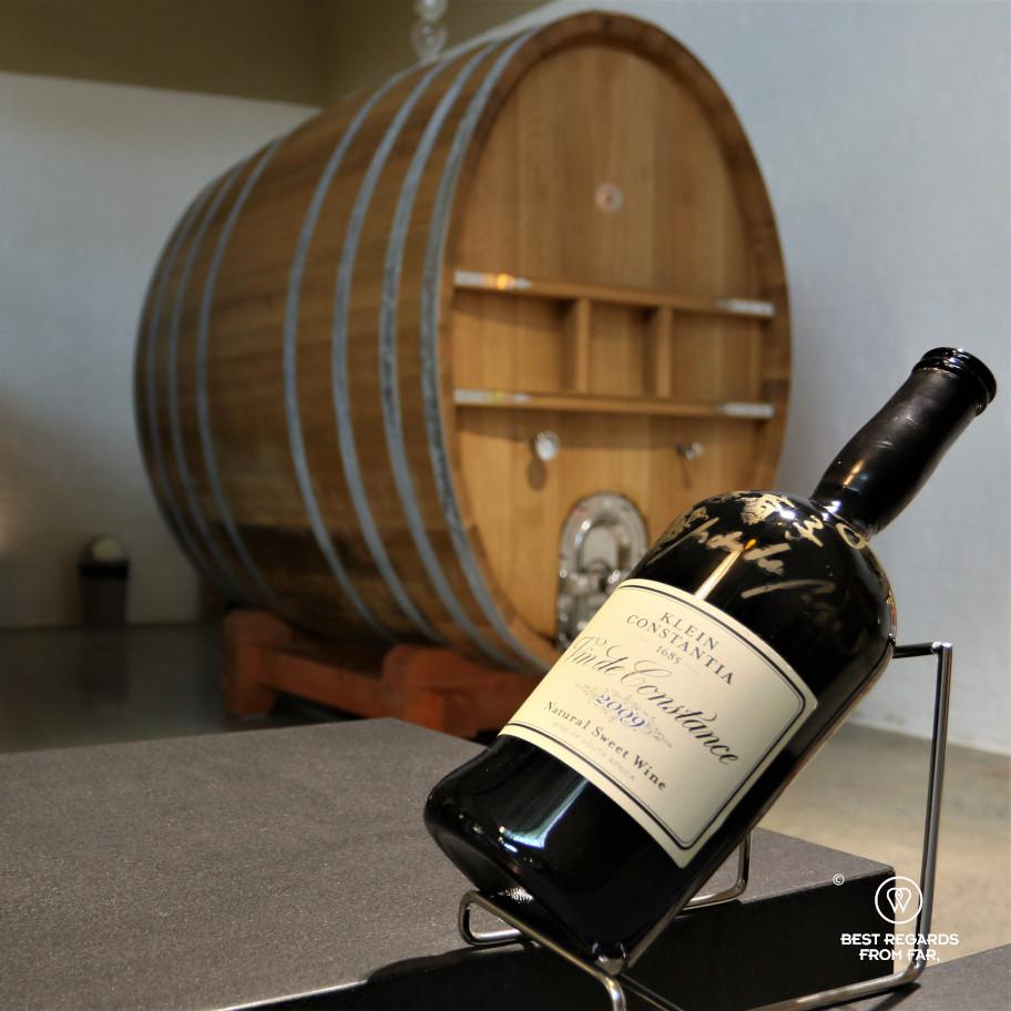Vin de Constance sweet wine in Klein Constantia cellar, Constantia wine route, Cape Town