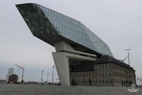 The iconic Port House of Antwerp, Belgium