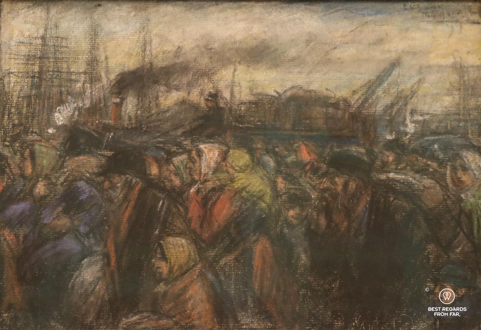 Painting of Antwerp harbour by Eugeen van Mieghem, Eugeen van Mieghem museum