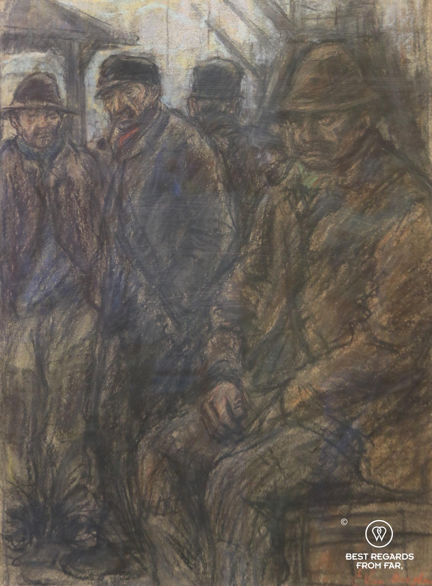 Hardship on the harbour of Antwerp by painter Eugeen van Mieghem, Eugeen van Mieghem museum
