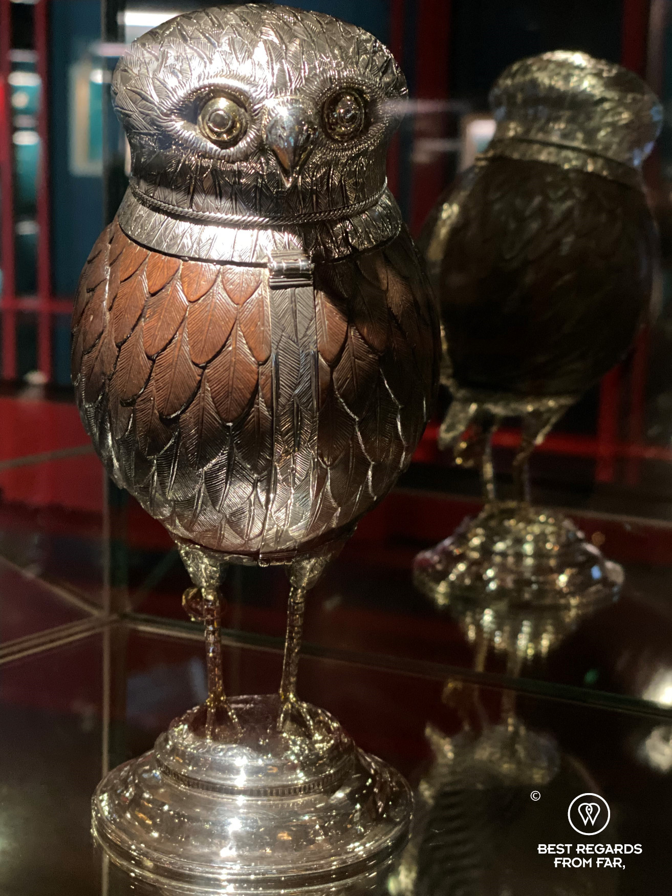 Silver owl cup from 1549, DIVA museum, Antwerp