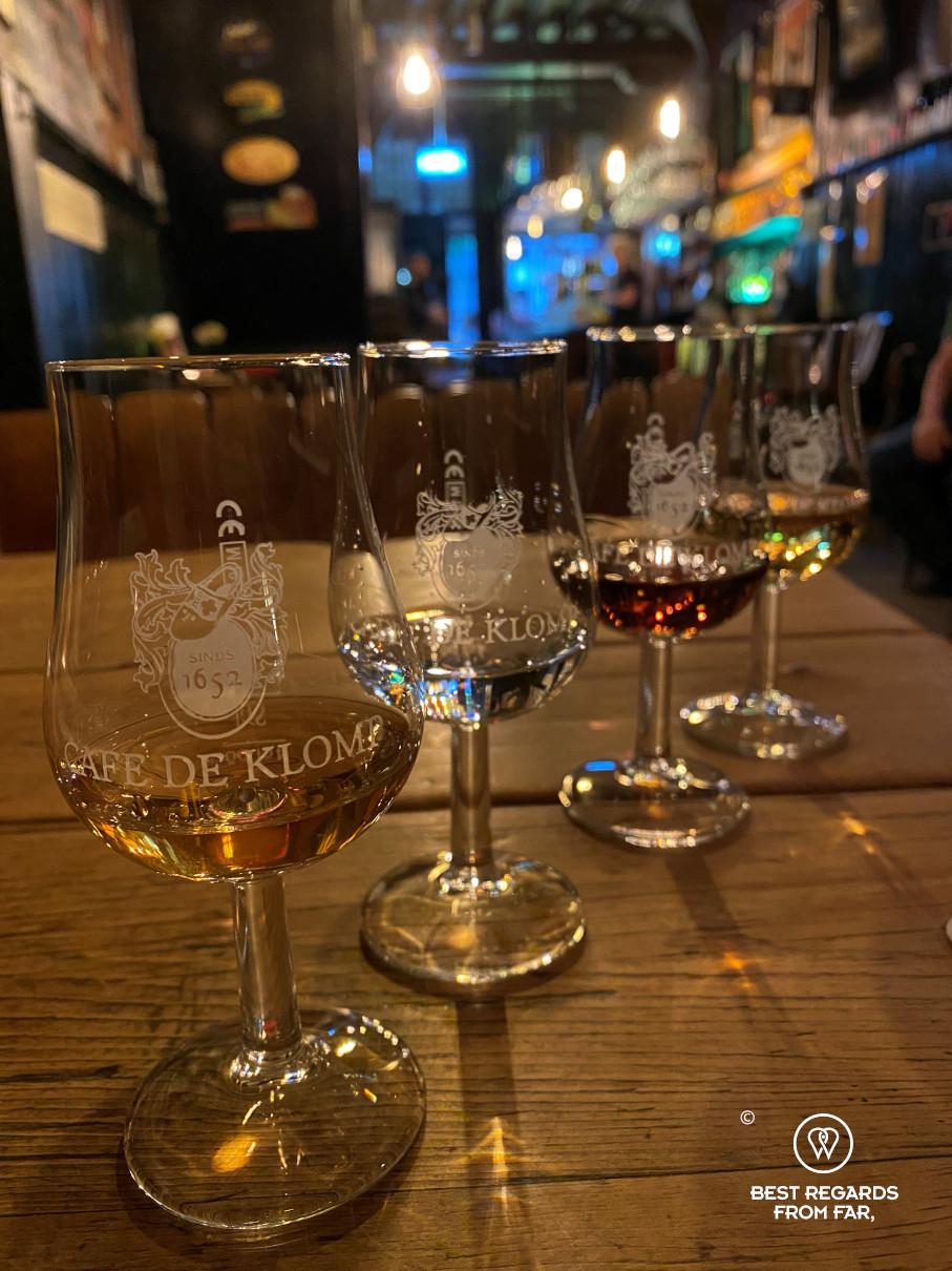 Jenever at bierhuis de Klomp, Delft, The Netherlands