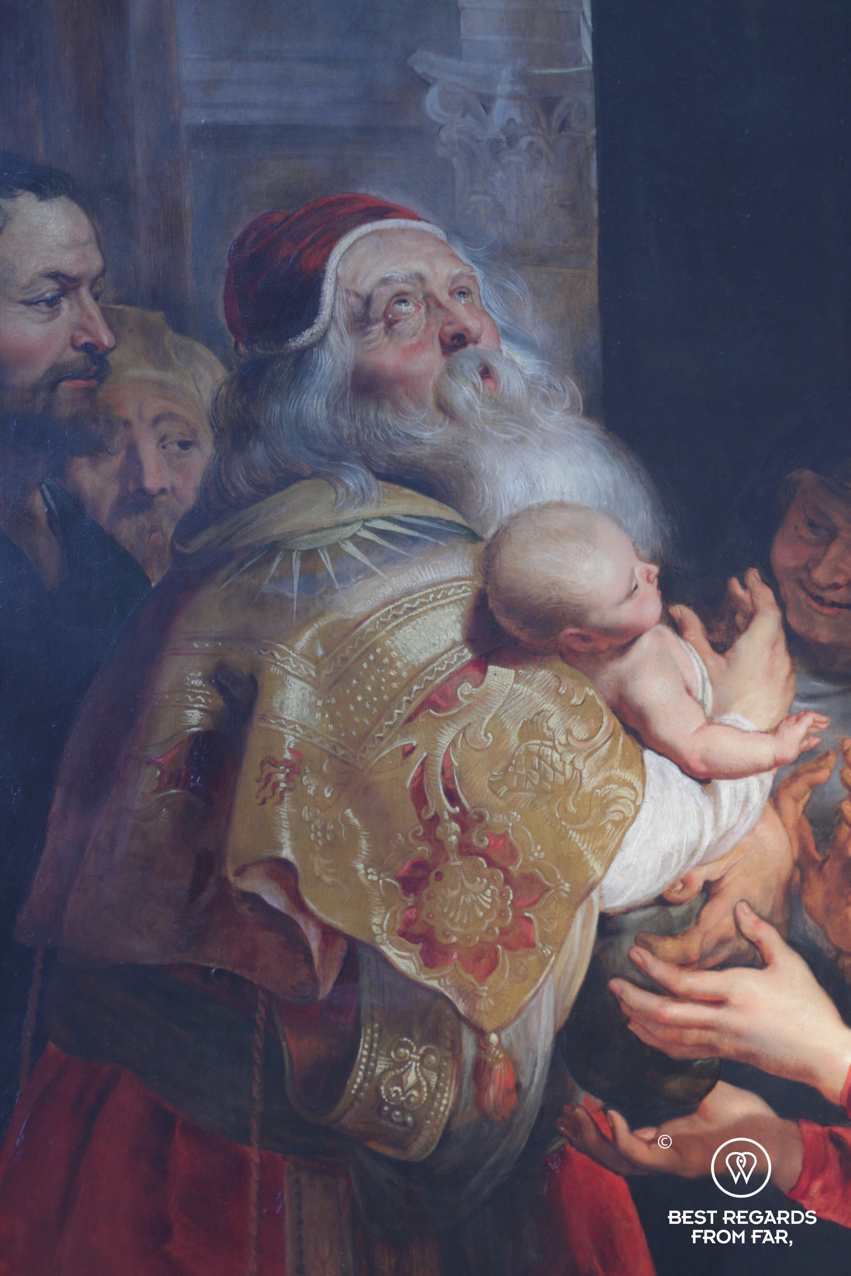 Detail of The Descent from the Cross by Rubens, Cathedral of our Lady, Antwerp, Belgium