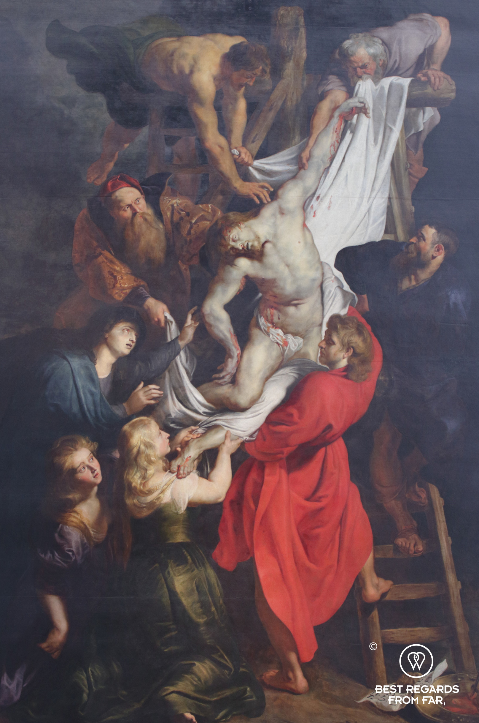 The Descent from the Cross by Rubens, Cathedral of our Lady, Antwerp, Belgium