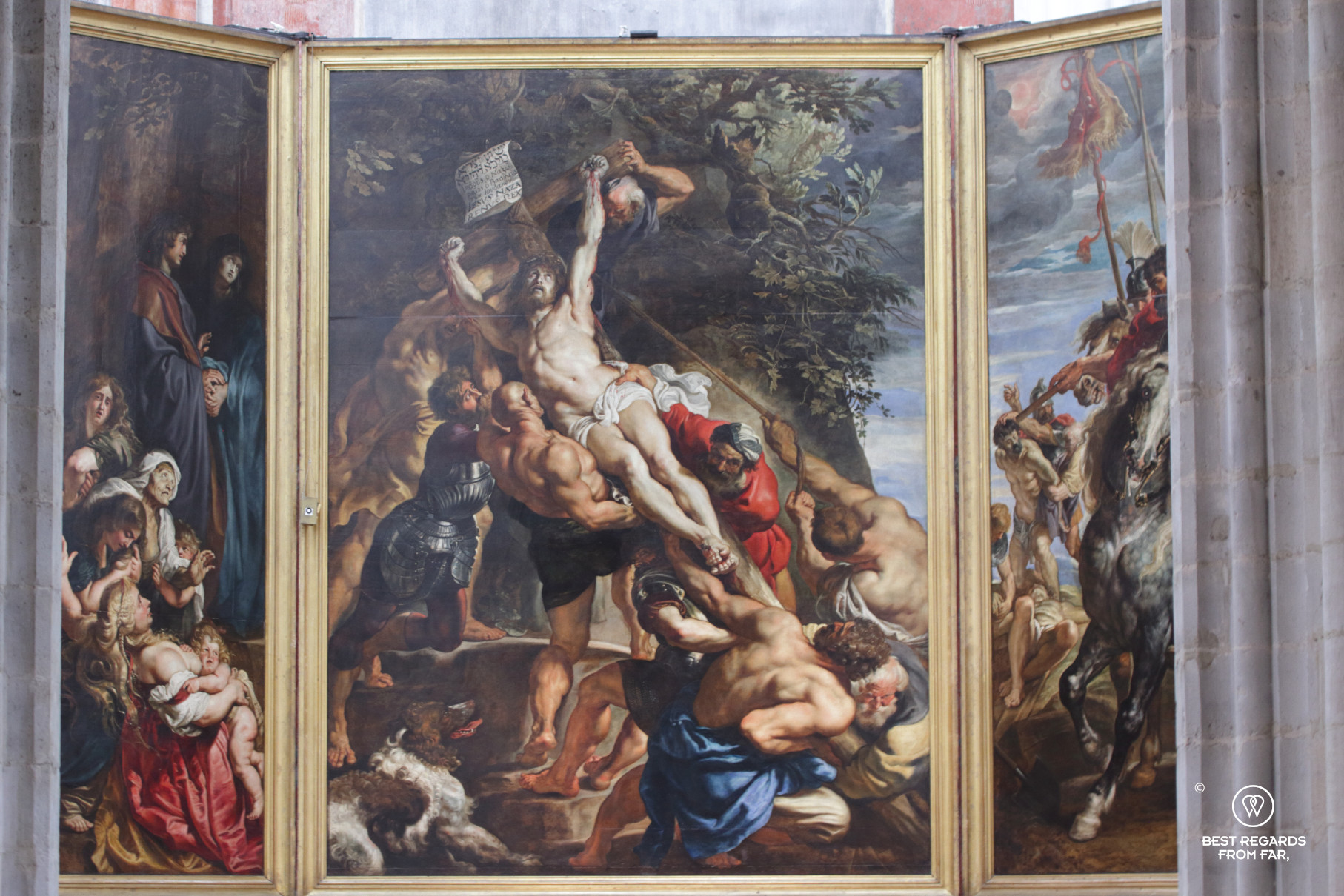 The Raising of the Cross by Rubens, Cathedral of our Lady, Antwerp, Belgium