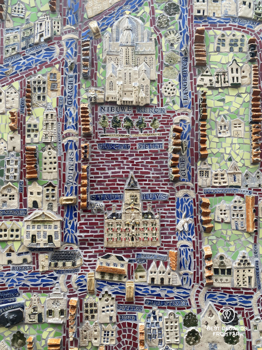 Detail of the Delft ceramic map