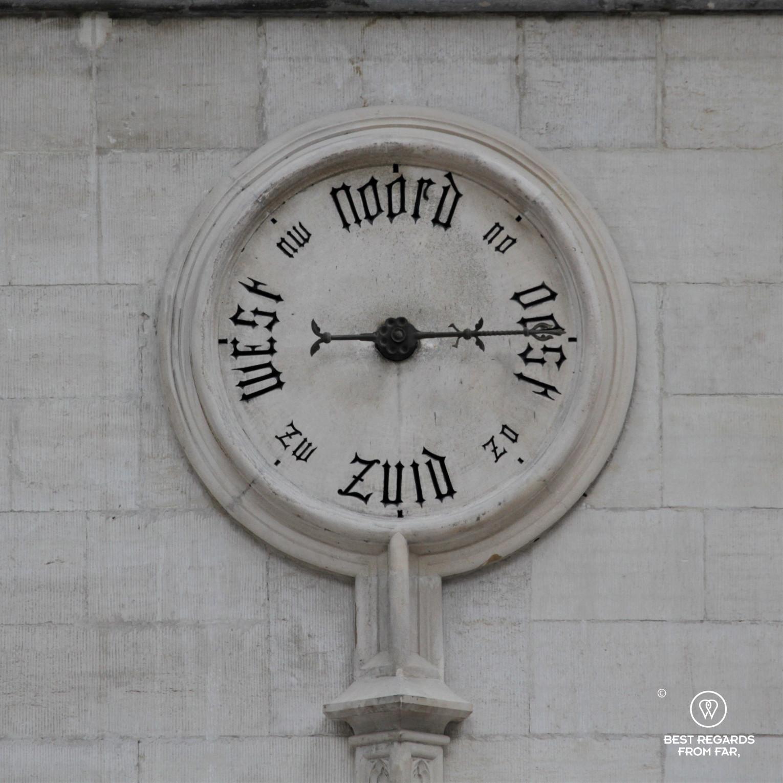 Wind direction shown in the Handelsbeurs, Antwerp