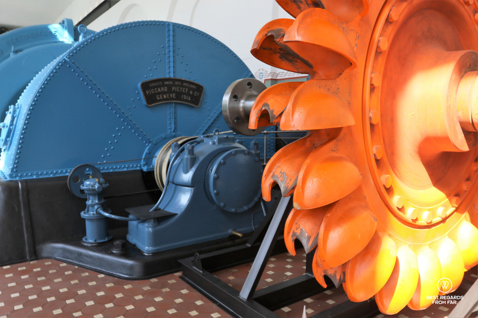 Turbine at the Norwegian Museum of Hydropower and Industry, Tyssedal, Norway