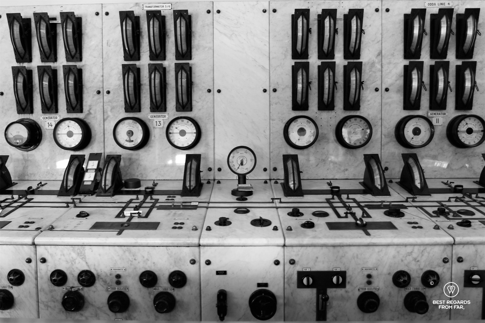 The control room of the Norwegian Museum of Hydropower and Industry, Tyssedal, Norway