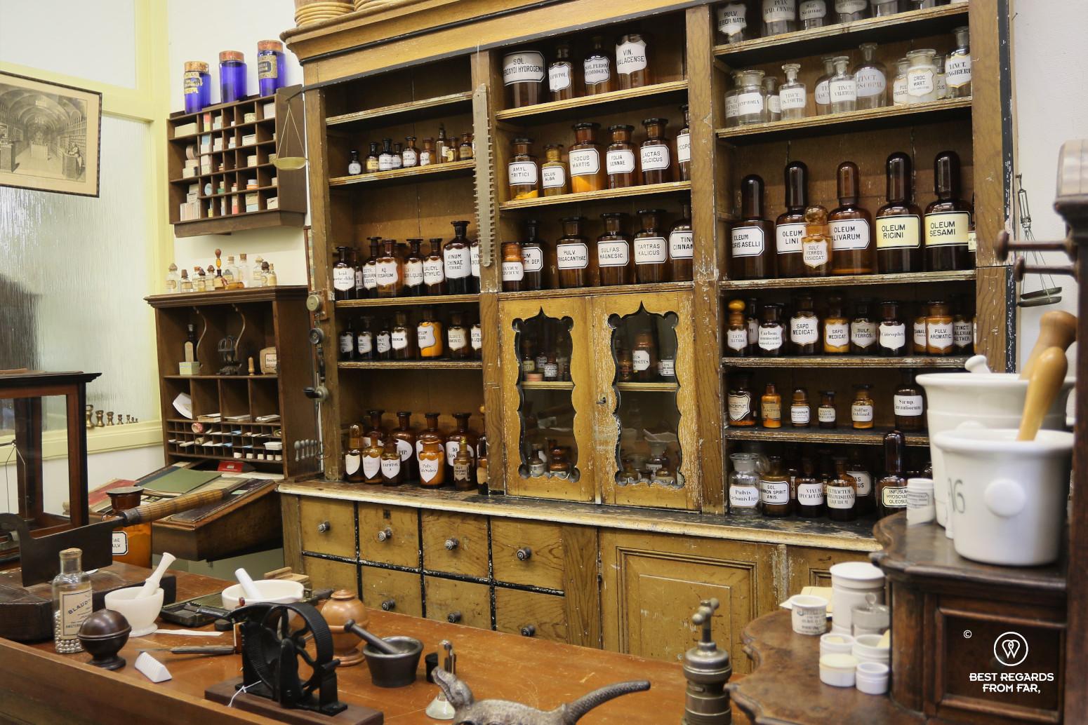 Old pharmacy at Medisch farmaceutisch museum de griffioen, Delft, The Netherlands