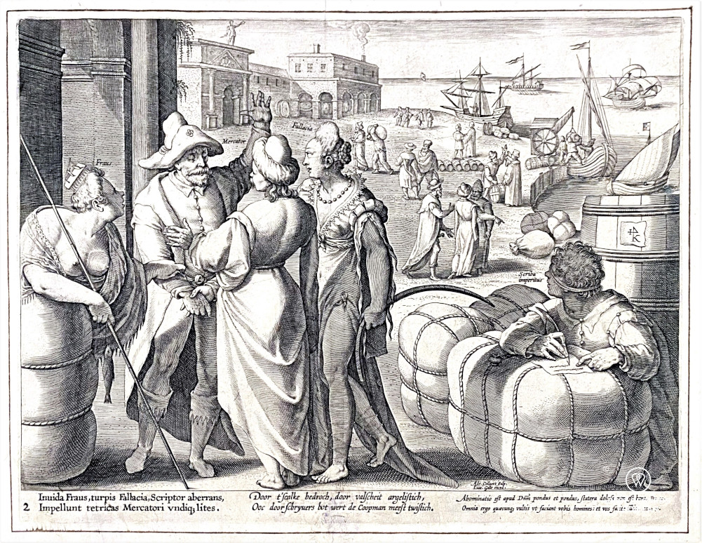 Print at the Plantin Moretus Museum, Antwerp