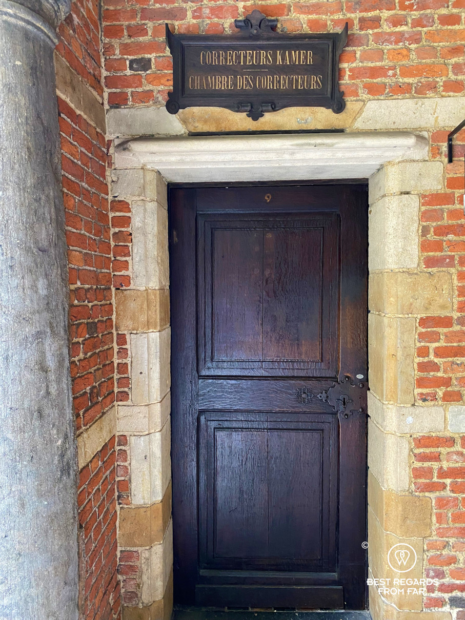 Door to the room of the proofreader at the Plantin Moretus Museum, Antwerp, Belgium