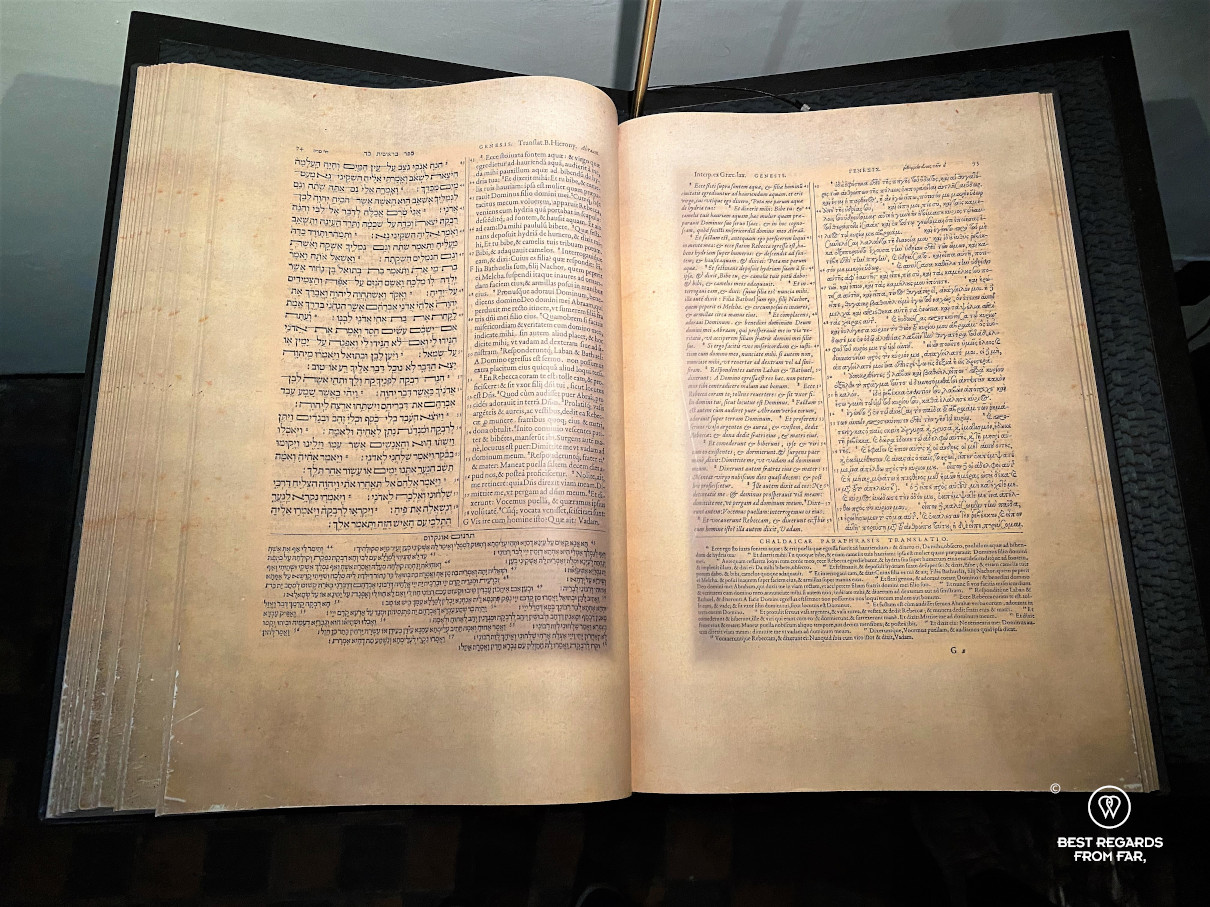 Biblia Regia, the bible in Hebrew, Greek, Aramaic and Lating, Plantin Moretus Museum, Antwerp