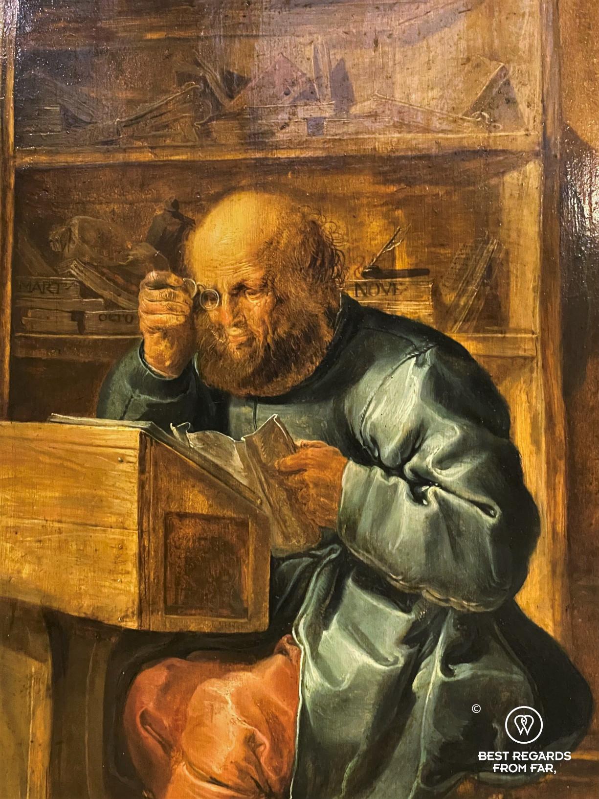 Portrait of a corrector at work, Plantin Moretus Museum, Antwerp