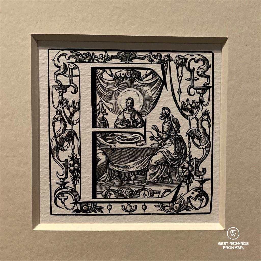 Woodblock print, Plantin Moretus Museum in Antwerp