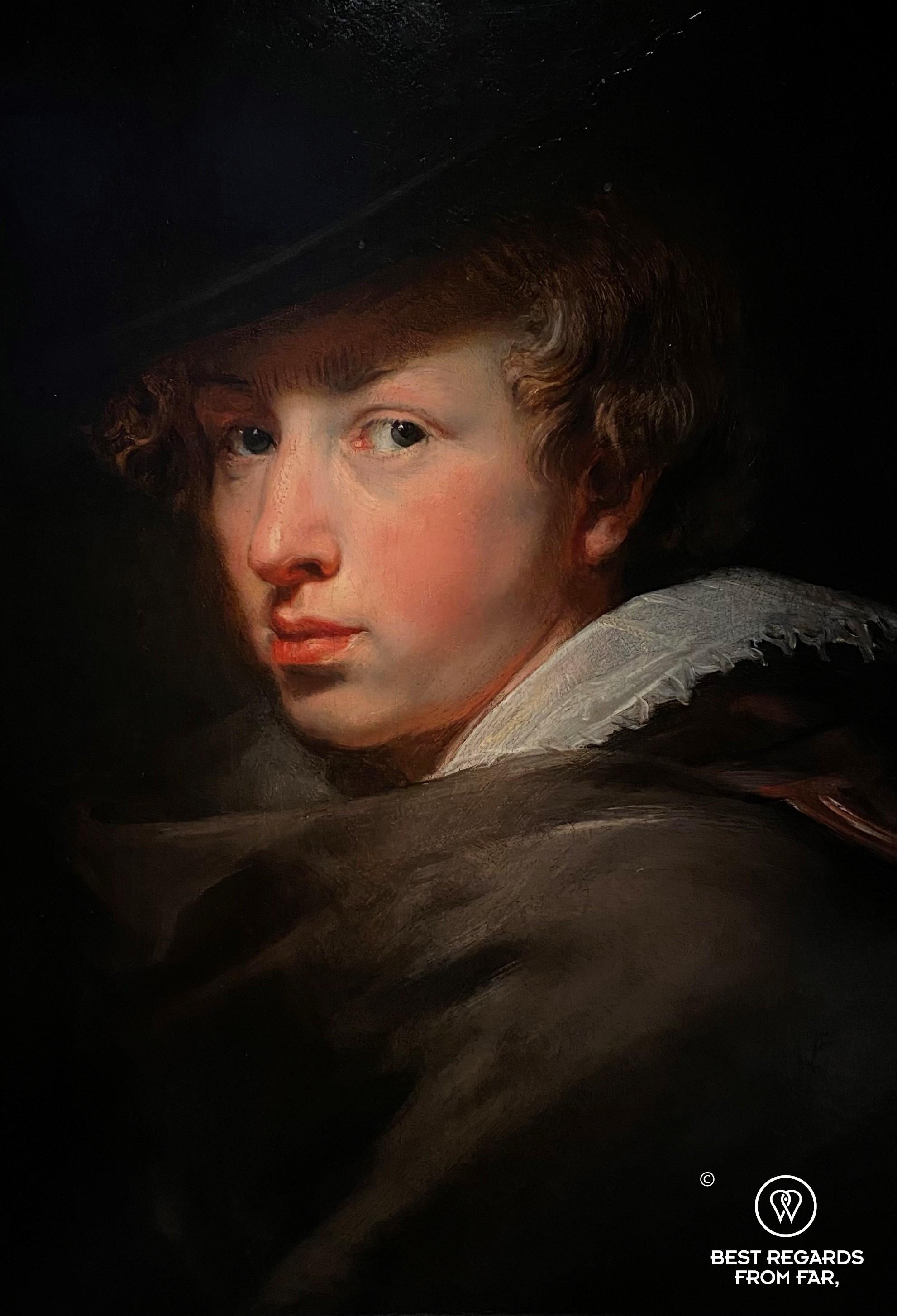 Self portrait (1632) by Anthony van Dyck, Rubens' House, Antwerp