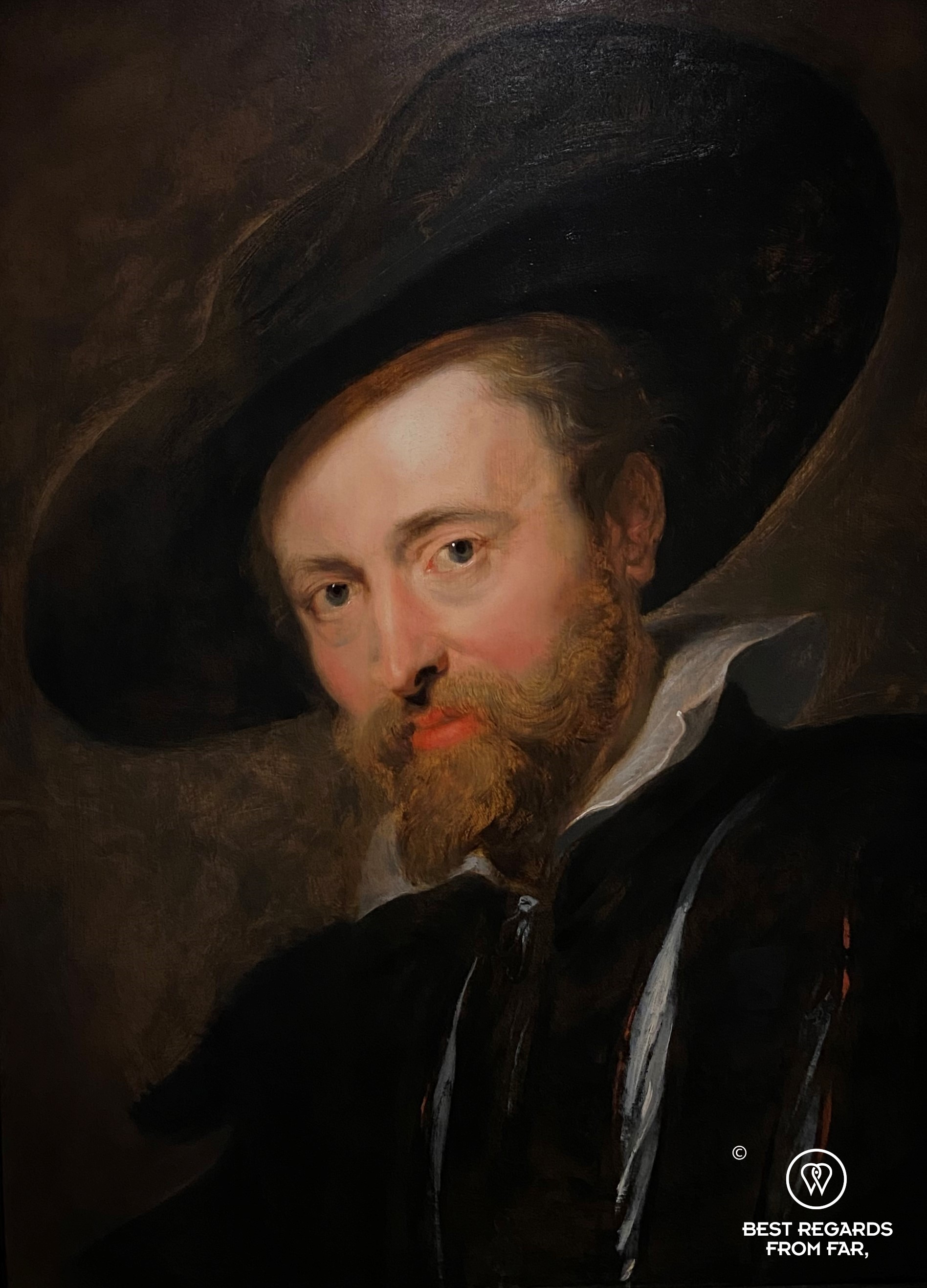 Self portrait by Rubens, Rubens' House, Antwerp