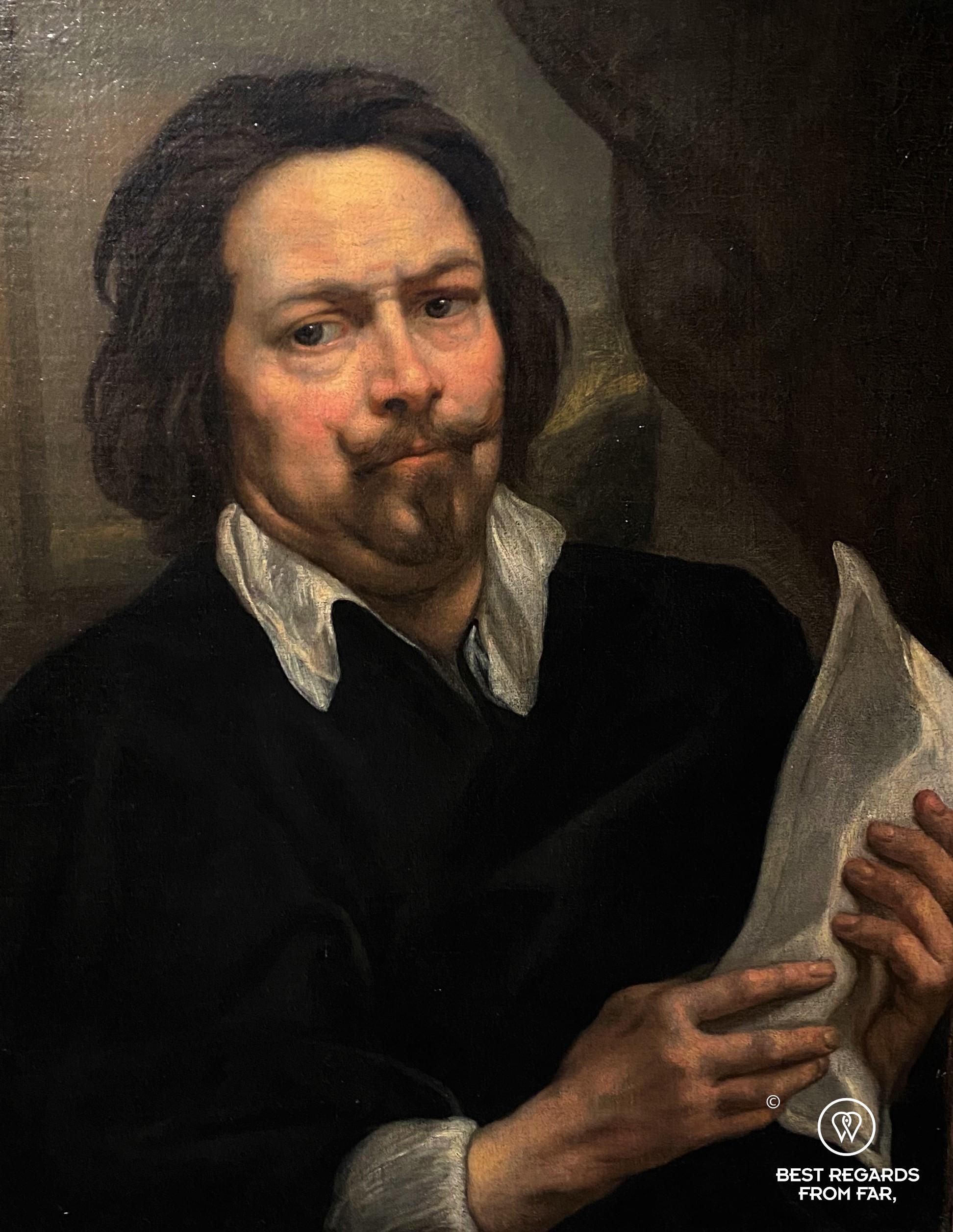 Self portrait (1649) by studio of Jacob Jordaens, Rubens' House, Antwerp