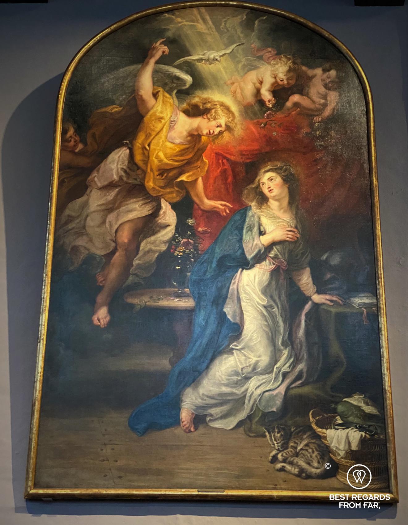 The Annunciation by Rubens, Rubens' House, Antwerp