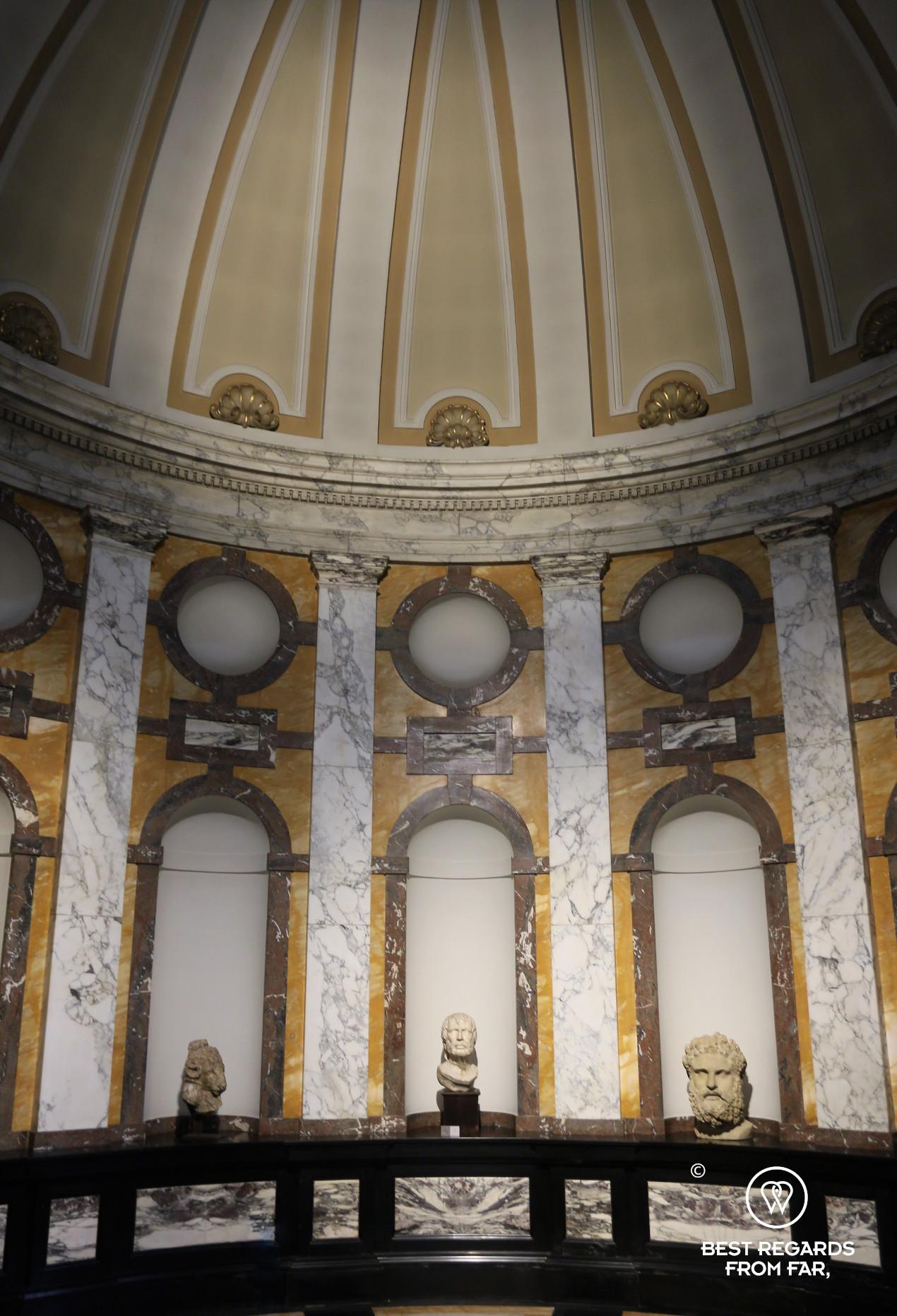 Roman statues in Rubens' gallery, Rubens' House, Antwerp
