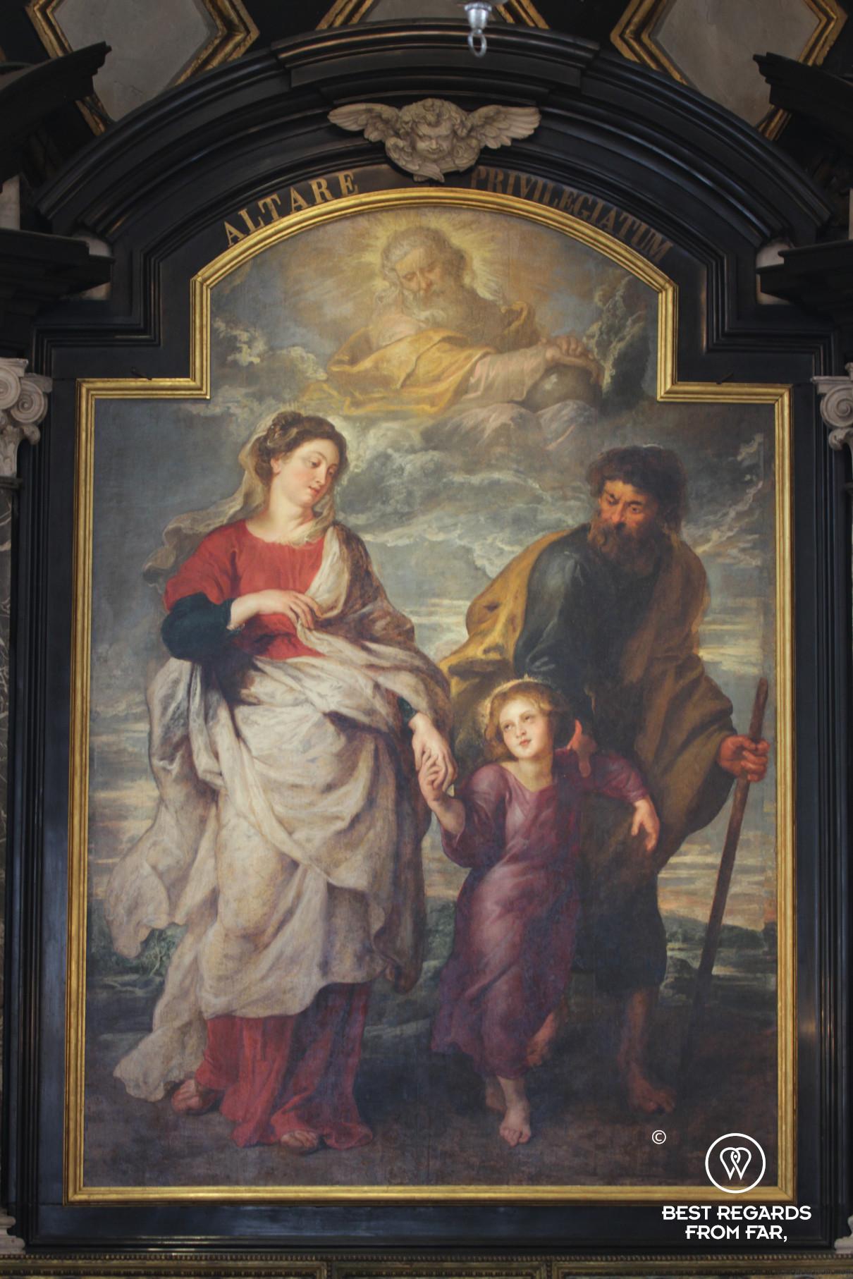 The Return of the Holy Family (1624) by Rubens, Saint Charles Borromeo Church, Antwerp