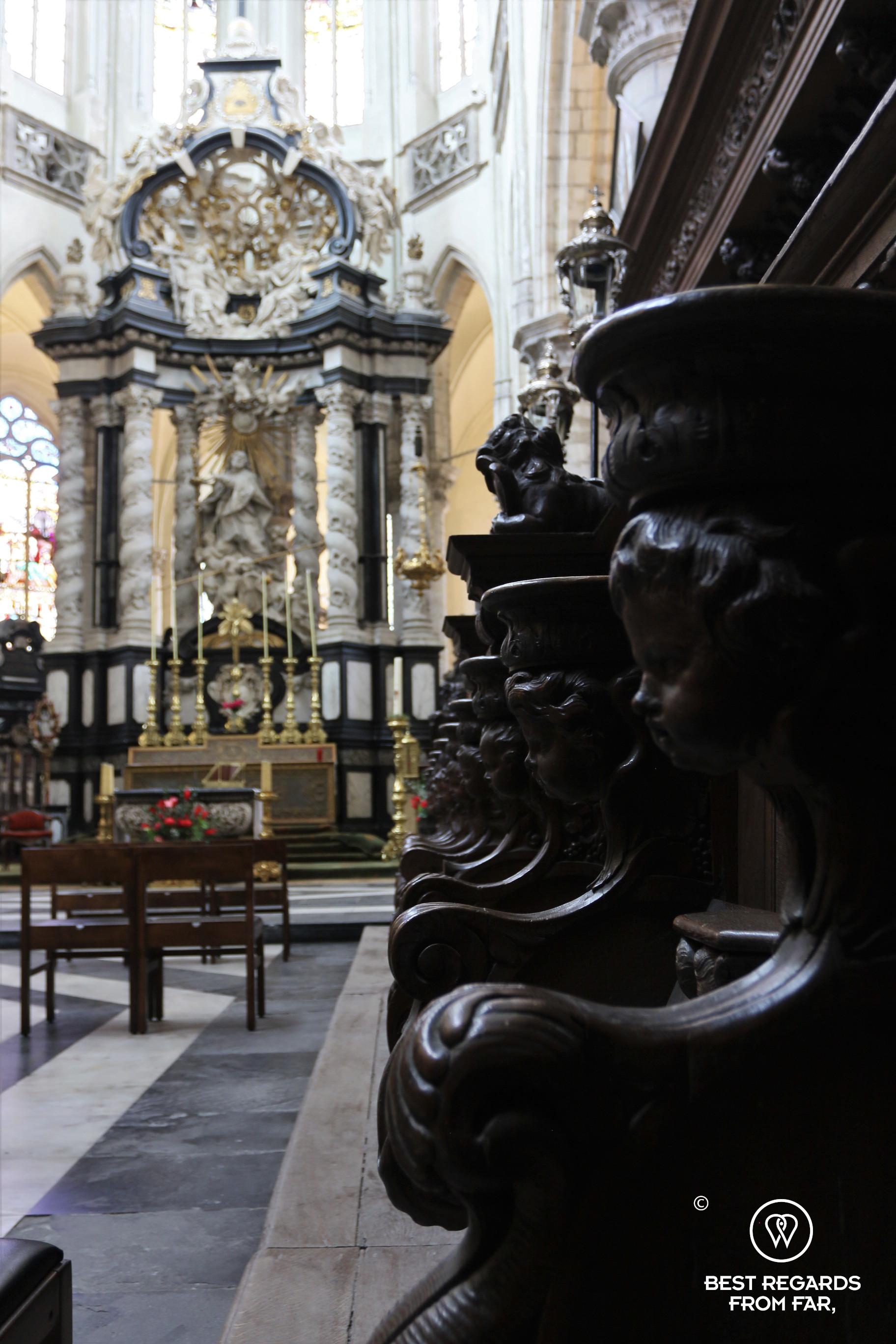 Altar of Saint James Church, Antwerp, where Rubens is buried