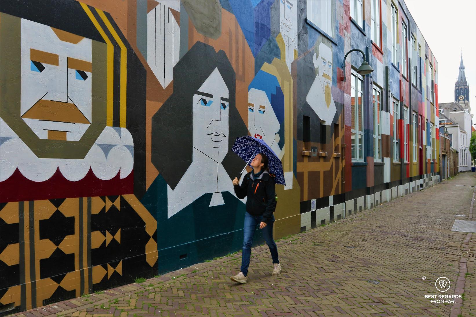 Testing the senz° windproof umbrella in Delft