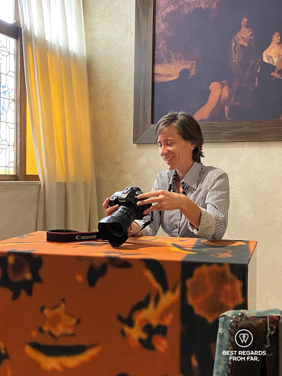 Recreating Vermeer's paintings at Vermeer Centrum, Delft