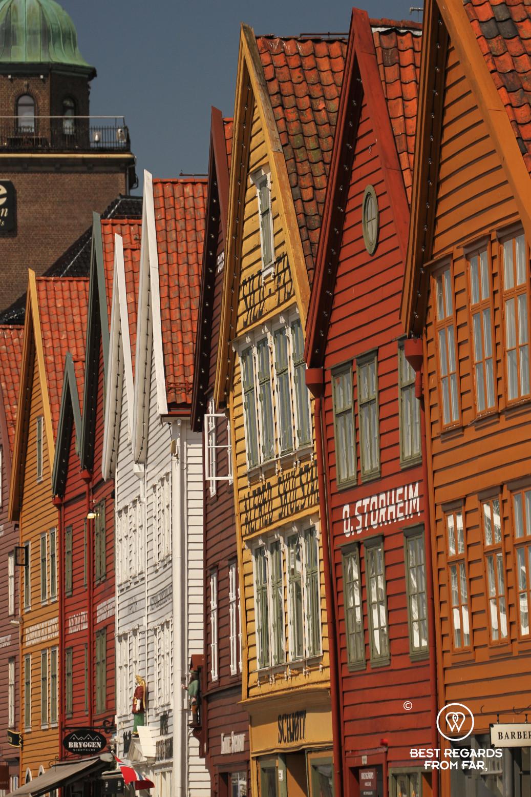 Colourful warehouses of Bryggen, Bergen