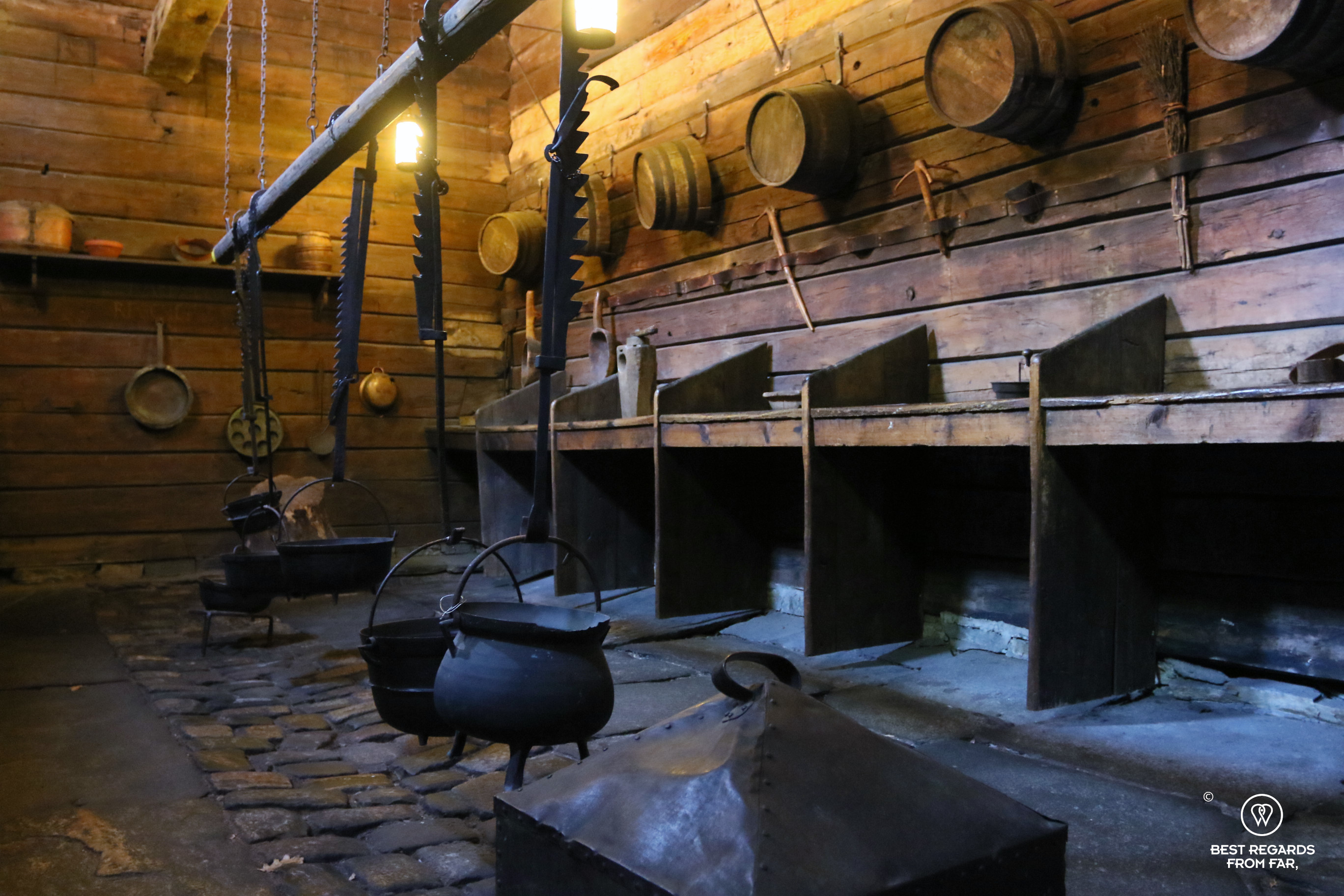 The kitchens of Schotstuene hanseatic museum, Bryggen, Bergen