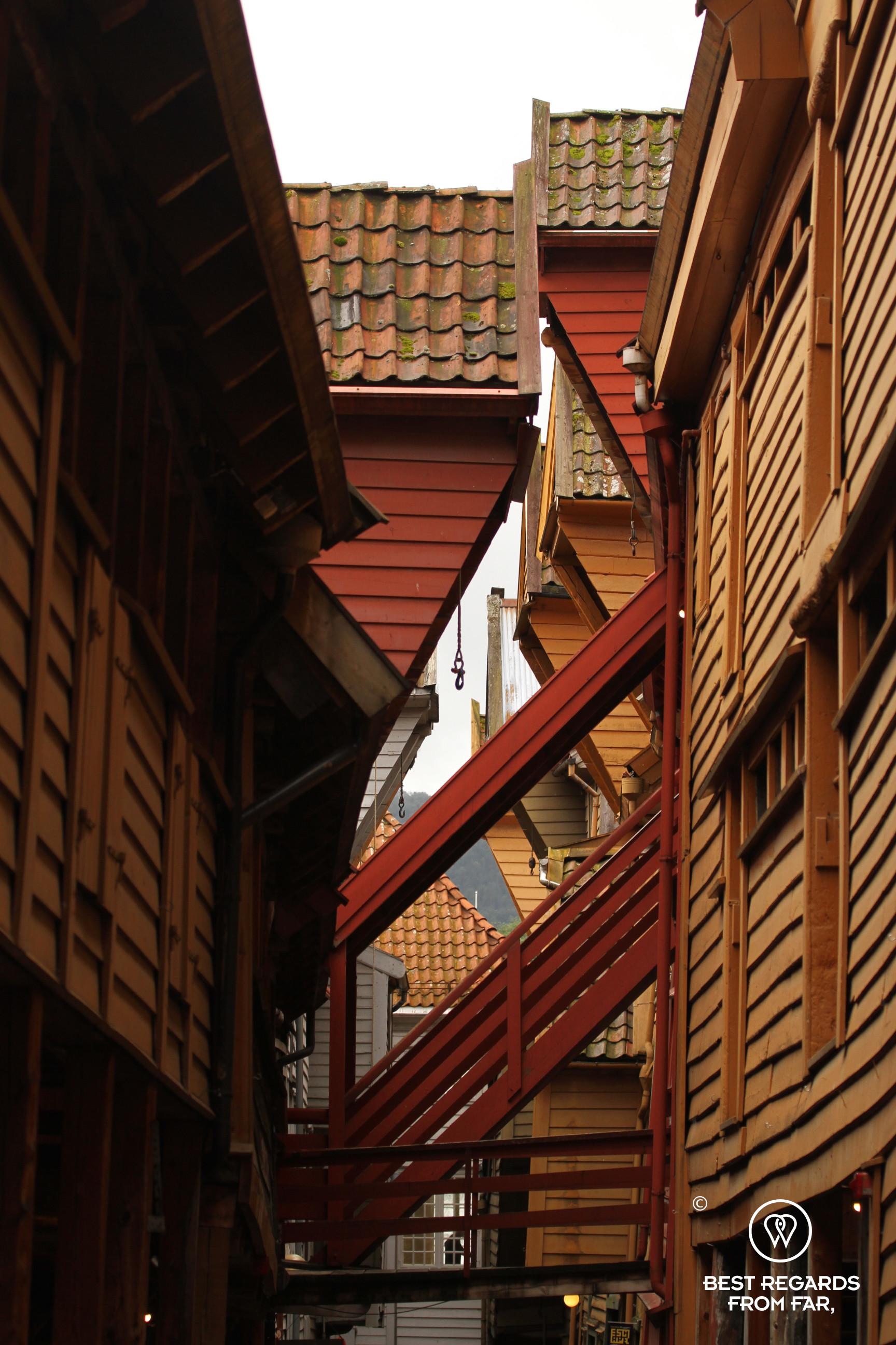Details of Bryggen's warehouses, Bergen