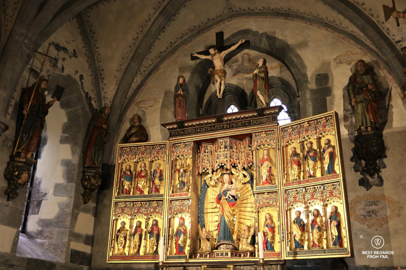The altar piece in Saint Mary's Church, Bergen