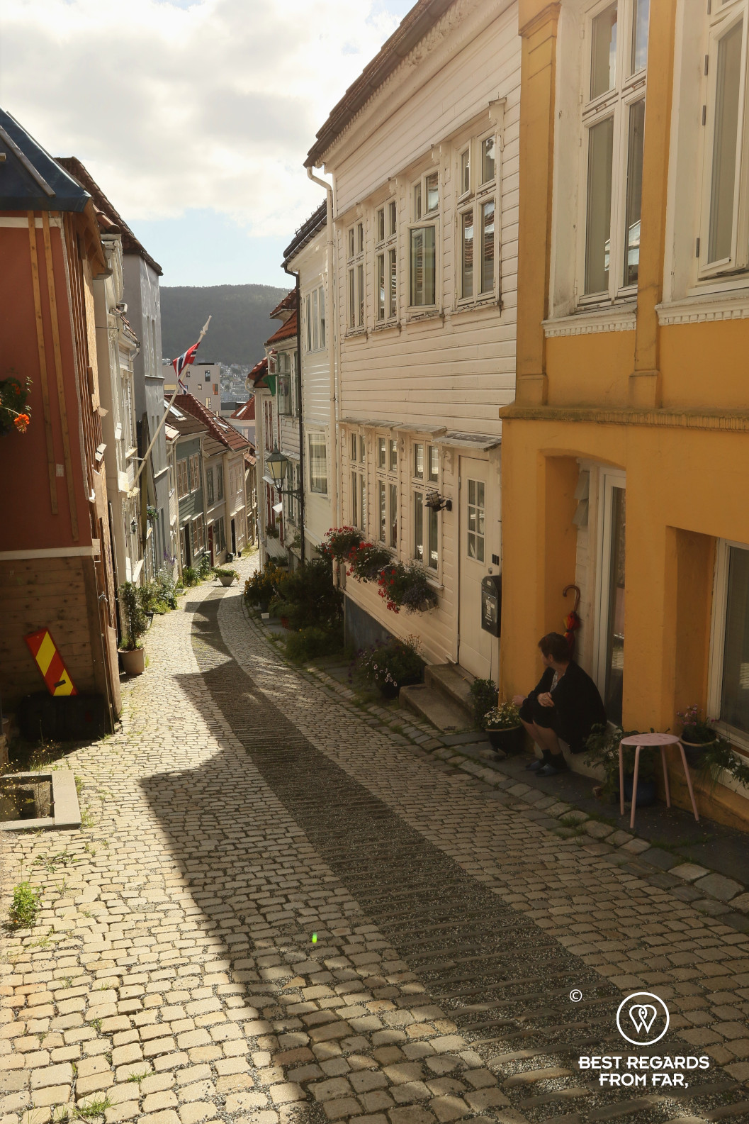 Cute street in Nordnes, Bergen