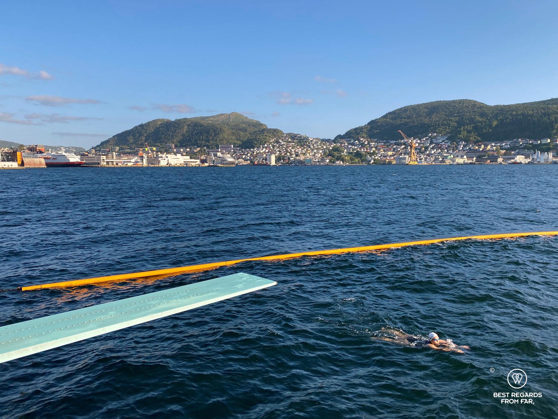 Nordnes seawater pool in Bergen, Norway
