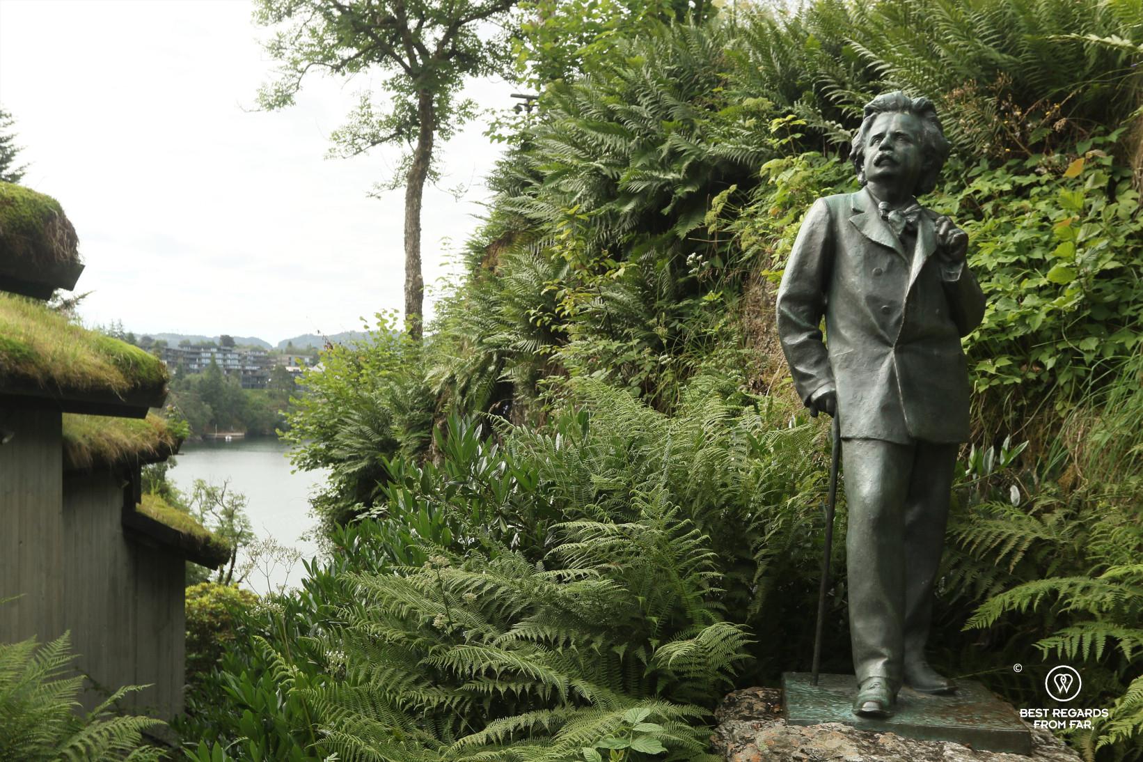 Statue of Grieg at his summer house of Troldhaugen, Bergen
