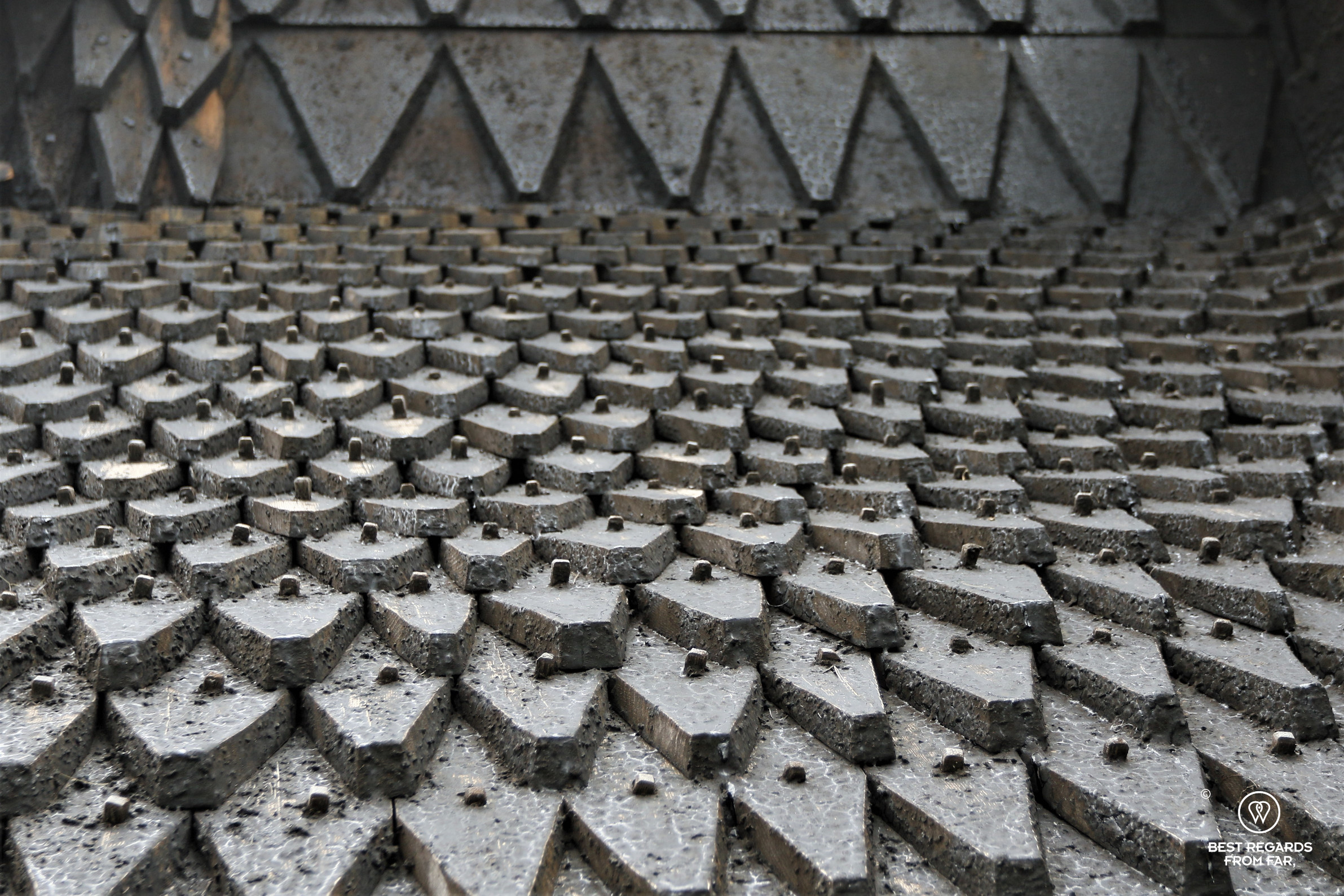 Some of the 17,000 shingles covering Eidsborg Stave Church
