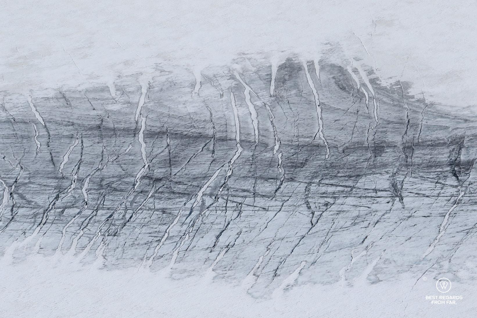 Close-up of the Galdhøpiggen Glacier, Norway
