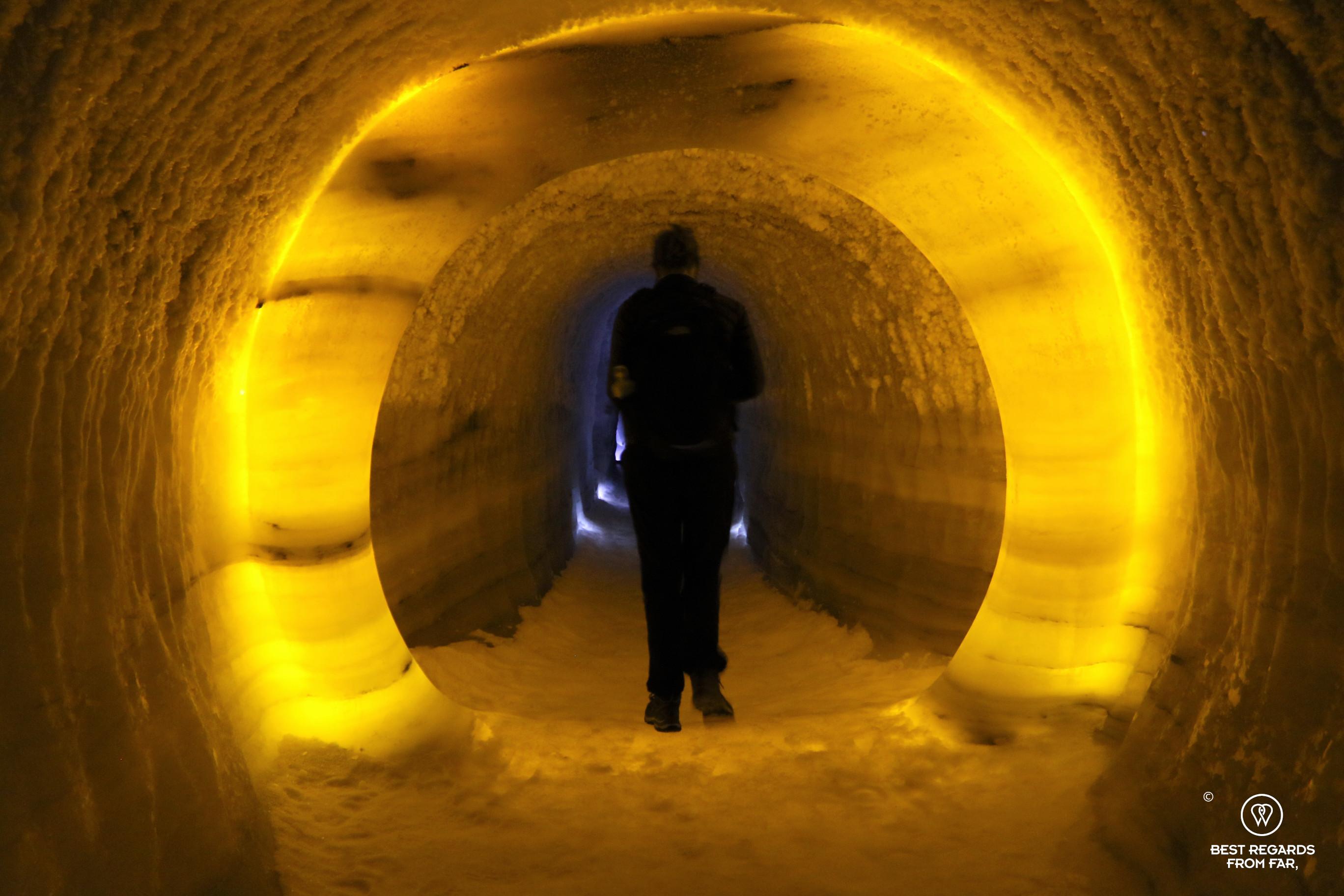 Inside the ice tunnel, Jotunheim, Norway