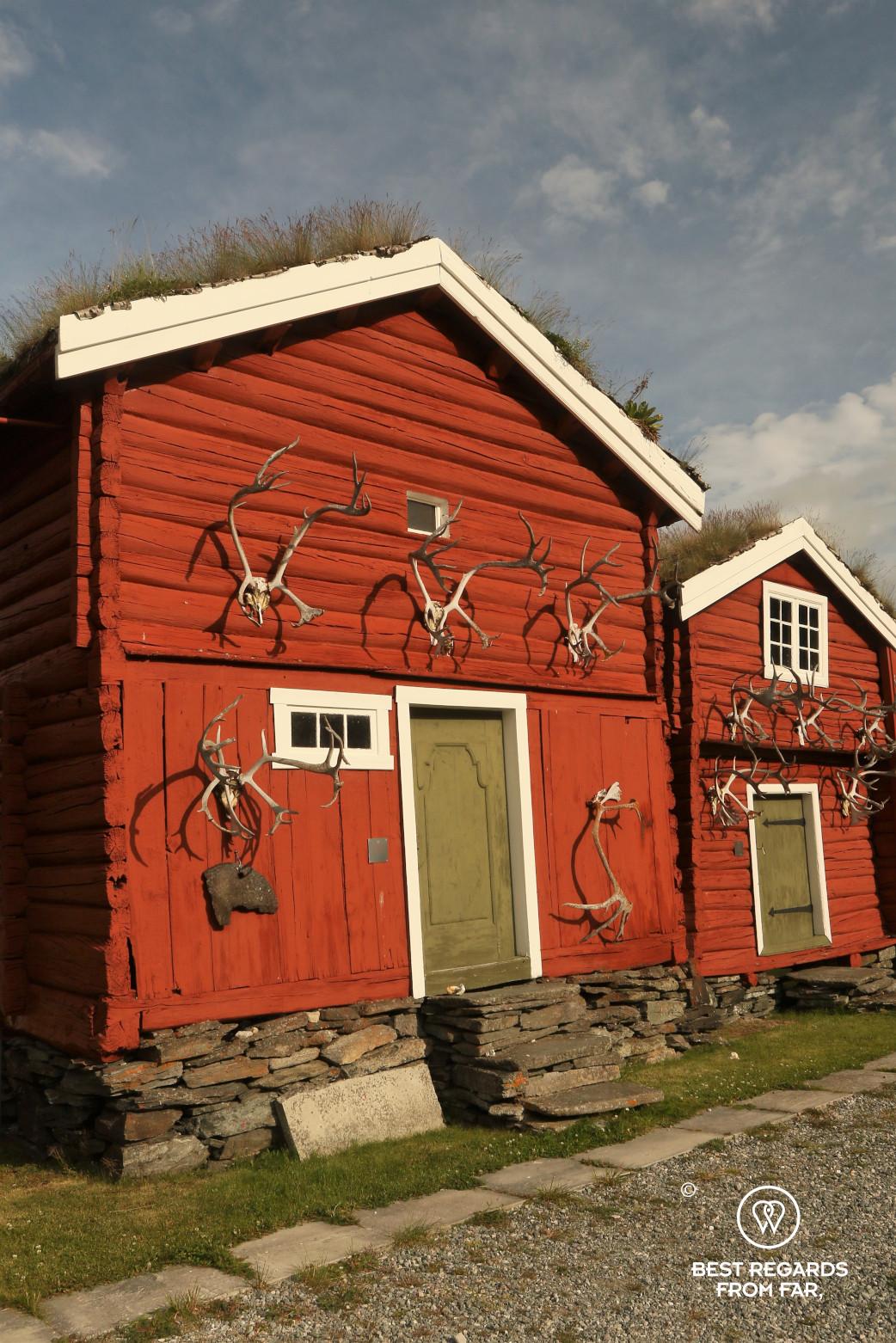 Reindeer antlers at the historic Kongsvold hotel, Norway