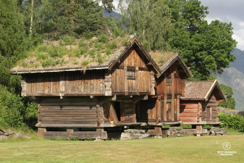 Lofts at the Kviteseid open-air museum, Norway