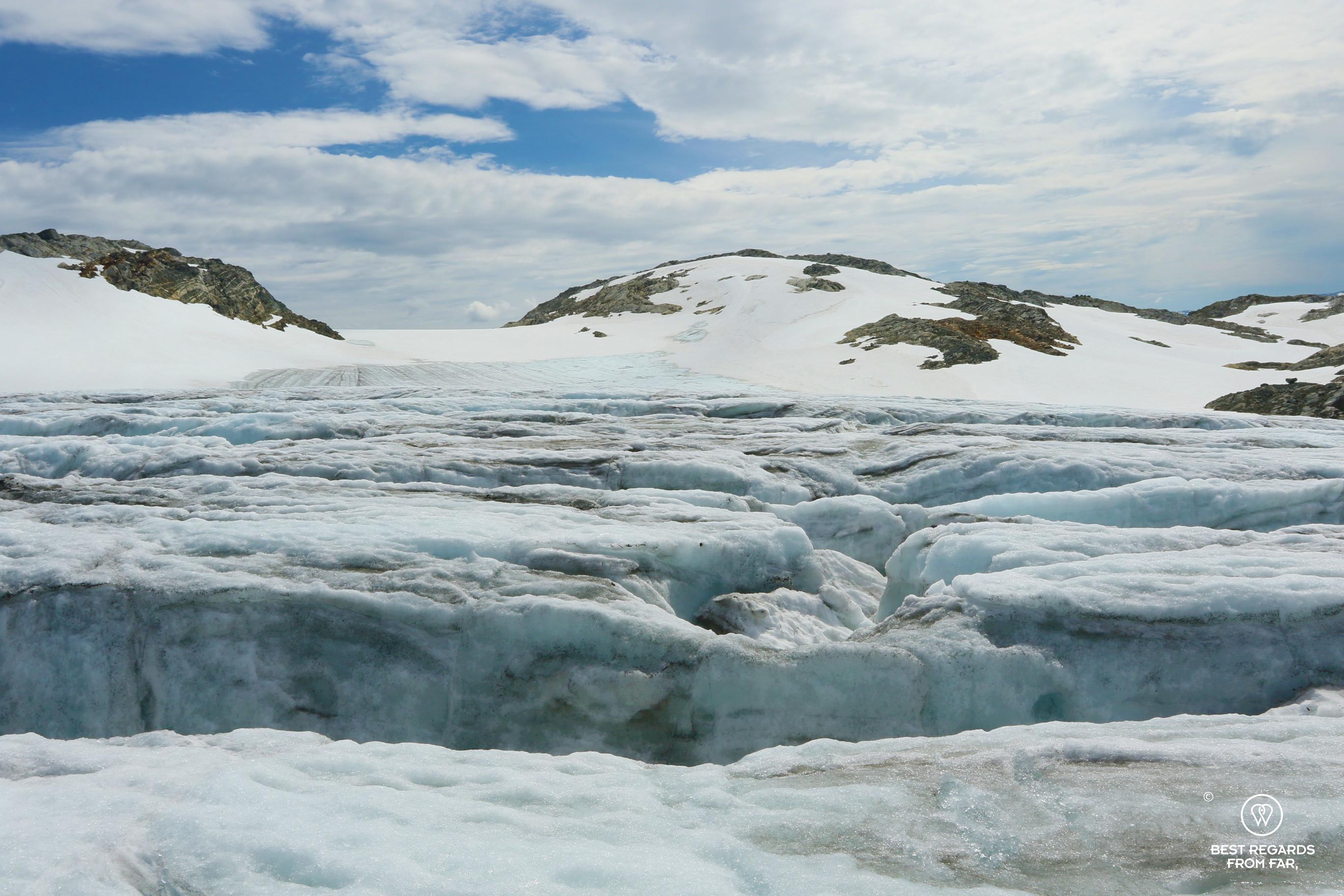 Crevasses of the Fonna Glacier